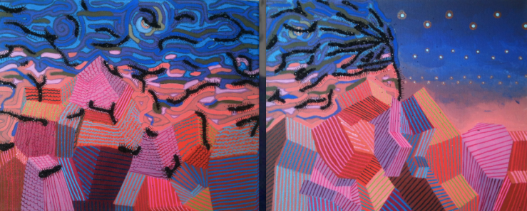 Still Wind - Triptych Mixed Media