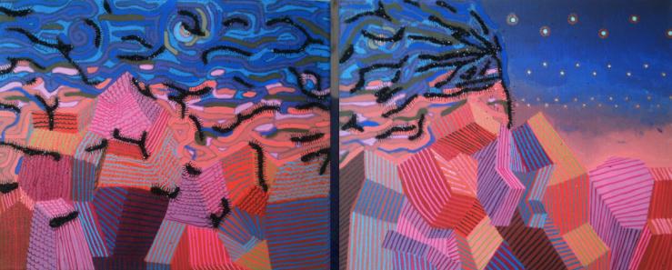 Still Wind - Triptych Mixed Media